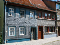 Slate houses in Eisenach, Germany Royalty Free Stock Photos