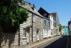 Slate Hung Facades At Padstow Cornwall Stock Image