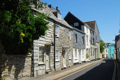Slate hung facades at Padstow Cornwall Stock Image