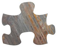 Slate Jigsaw Puzzle Piece Stock Photos