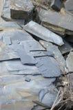 Slate la mina superficial de piedra en Vitkov, la piedra coloreada azul 2 Foto de archivo