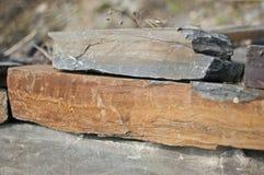Slate la miniera a cielo aperto di pietra a Vitkov, repubblica Ceca Immagine Stock Libera da Diritti