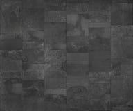 Slate la tuile en céramique, carte gris-foncé de texture sans couture pour le graphique 3d Photos stock