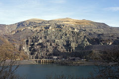 The slate ledges of Llanberis Royalty Free Stock Images