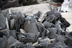 Slate at the Norwegian Coast Stock Images