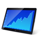 Slate PC with business graph Royalty Free Stock Photos