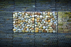 Slate and pebbles Stock Images