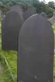 Slate pedras graves, obscuridade - pedra do cinza azul Fotografia de Stock