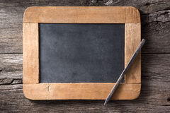 Slate and pencil Royalty Free Stock Images