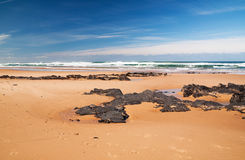 Slate on Portuguese beach Stock Photography