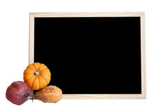 Slate and pumpkins Stock Image
