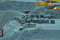 Slate quarry. Royalty Free Stock Photography