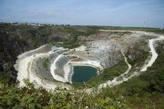 Slate quarrying Cornwall UK Stock Images