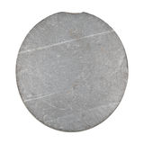 Slate Rock. Round blue slate rock, isolated on white. Image suitable for mineralogy use Royalty Free Stock Photo
