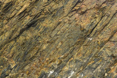 Slate rock face, texture background Stock Photo