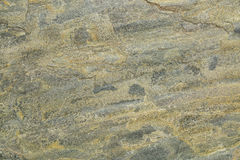 Slate rock texture. Flat, green, yellow and gray slate rock with abstract like landscape pattern Stock Images