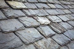Slate Roof. Aged slate roof tiles close-up Stock Images