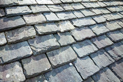 Slate Roof. Aged slate roof tiles close-up Stock Image