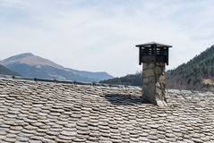 Slate roof detail Royalty Free Stock Photo