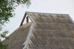 Slate roof houses Stock Photos