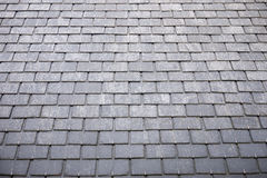 Slate roof tiles Stock Photos