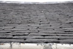 Slate rooftop. At the Balblair distillery, Scotland  (2011 Stock Images