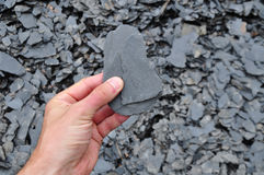 Slate shale geologist Royalty Free Stock Photography