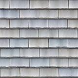 Slate shingles. Interwoven dark blue slate shingles Stock Photography
