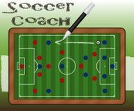 Slate Soccer Coach Stock Photography