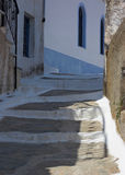 Slate Steps. These whitewashed slate steps where photographed in Ioulis, the capital of the Greek island of Kea Royalty Free Stock Images