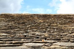 Slate stone roof tiles outside view perspective Royalty Free Stock Photography