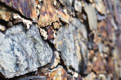 Slate stone wall detail Royalty Free Stock Images
