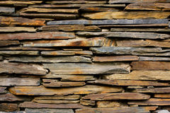 Slate Stone wall  texture Royalty Free Stock Photography
