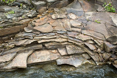 The slate stones on the banks Royalty Free Stock Images