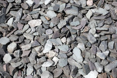 Slate stones chippings background Royalty Free Stock Photo