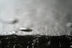 Slate Surface With Water Drops Macro Shot