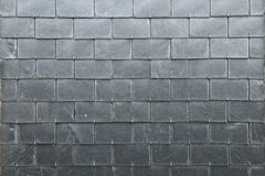 Slate texture. Roofing gray rectangles slate texture Stock Photo