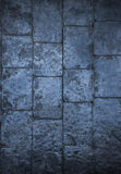 Slate texture flooring a popular choice for modern kitchens and Stock Photo