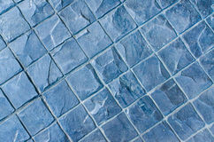 Slate texture vinyl flooring a popular choice for modern kitchen Stock Photography