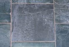 Slate tile. Slate floor tile with gray grout Stock Photos