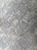 Slate tile. Irregular patterns in outdoor slate tile patio Stock Photography