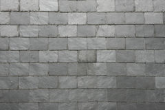 Slate tile background. Grey slate roof tile texture Royalty Free Stock Photos