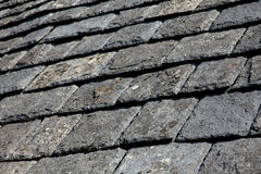 Slate tiles on a rooftop Royalty Free Stock Photography
