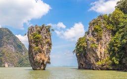 Slate vaggar den Khao Phing Kan ön i Thailand Royaltyfri Fotografi
