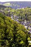 Slate Valley Houses. Old houses in the valley of the glassblowing place Royalty Free Stock Photo