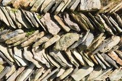 Slate wall Cornwall England UK Stock Images