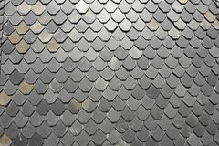 Slate Wall. Wall of a house covered with slate plates Stock Image