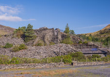 Slate waste heap from slate mine Royalty Free Stock Image