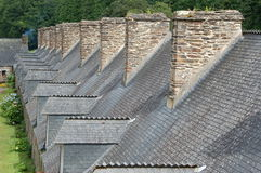 Slated roofs Royalty Free Stock Photo