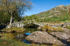 Slaters Bride. Slaters bridge near little langdale Cumbria Stock Photo